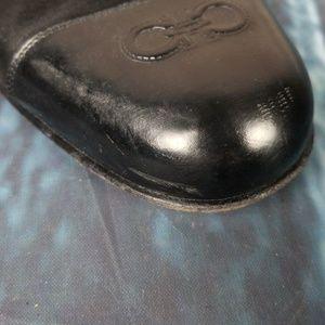 Salvatore Ferragamo Shoes - Salvatore Ferragamo Suede Black Flats Size 10